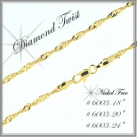Diamond Twist Chain - Gold