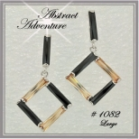 Abstract Adventure - Large Black & Champagne
