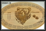 Cribbage Board ( Bear Head )