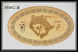 Cribbage Board ( Wolf Couple)