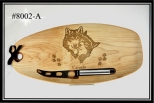 Cutting Board ( Wolf Couple)