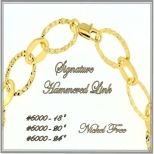 Hammered Link Chain - Gold
